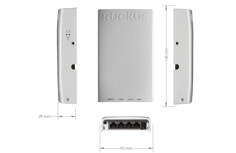 Ruckus Unleashed H510 802.11ac Wave 2 Wi-Fi AP and Switch for Dense Client Environments