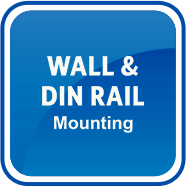 Wall and DIN Rail Mounting